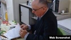 El periodista cubano Roberto Jesús Quiñones Haces. (Captura de video/Cubanet)