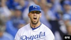 El lanzador James Shields, de los Reales de Kansas City.