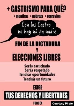 ForoDyL por el fin de la farsa electoral en Cuba