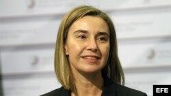 R01 RIGA (LETONIA), 06/03/2015.- La jefa de la diplomacia comunitaria, Federica Mogherini, durante la reunión informal de ministros de Exteriores de la Unión Europea (UE) en Riga, Letonia esta semana.
