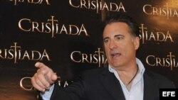 Andy García en la presentación de Cristiada