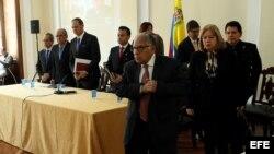 Supremo en el exilio de Venezuela concluye audiencia de juicio contra Maduro.