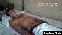 Luis Enrique Losada Aguedo hijo de Losada Igarza en huelga para apoyar a su padre