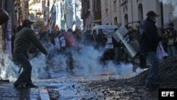 Manifestaciones violentas en Bolivia