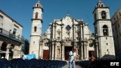 Plaza de la Catedral de La Habana, Cuba.