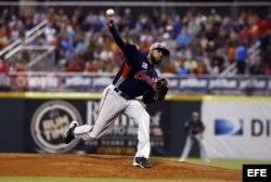 El lanzador de Venezuela Daryl Thompson.