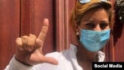 Thais Mailén Franco Benítez, una de las detenidas en la protesta pacífica de la Calle Obispo. (Facebook)
