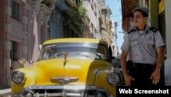 Policiía cubano en las calles de La Habana. Archivo
