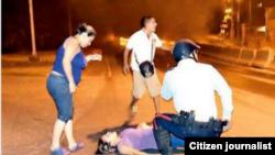 Imagen de redes sociales del momento que embarazada fallece a causa de disparos en Venezuela