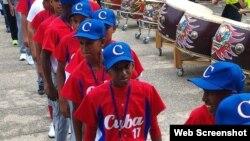 Equipo cubano que compite en la Copa Mundial de Béisbol WBSC Sub-12.
