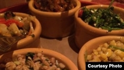 Guisos para quesadillas, en el restaurant Pujols, del chef mexicano Enrique Olvera.