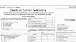 """""""Estudio de Opinión"""" realizado por Granma genera opiniones en Cuba"""