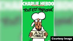 Charlie Hebdo con Mahoma en la portada.