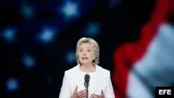 Hillary Clinton acepta la nominación a la presidencia de EEUU