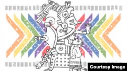 Emblema de ILGA 2014 México.