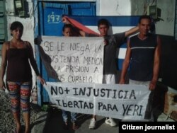 Reporta Cuba/Cortesia ADO Yisel Aguilera, Odalis Legra, Yusmel Acosta y Orlando Chararan se solidarizan con Yeris Curbelo.