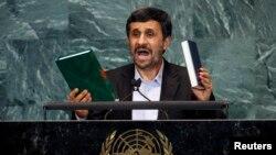 El presidente Ahmadineyah en la ONU