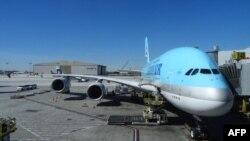 Un Boeing 747, de Korean Air en el Aeropuerto Internacional de los Angeles. (Archivo).