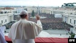 El Papa dedicó su mensaje de Navidad a pedir la paz en todo el mundo.