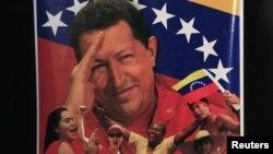 Poster de Hugo Chávez en las calles de Caracas.