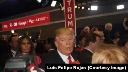 Donald Trump, candidato presidencial republicano. Universidad de Miami, 10 de marzo de 2010 de 2016. Foto: Luis Felipe Rojas.
