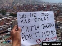 En Caracas no sólo protesta la clase media. También la clase baja y muy baja del sector de Catia.