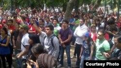 Estudiantes piden la renuncia de la Defensora del Pueblo de Venezuela, Gabriela Ramírez.