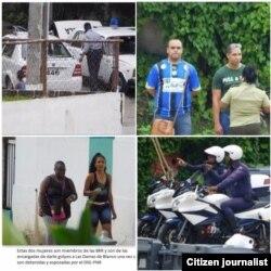 Vigilancia en la sede de las Damas de Blanco Domingo 24 de julio Fotos de Angel Moya