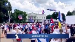 En Washington y Madrid, cubanos, reclaman libertad, democracia y el fin de la dictadura en Cuba
