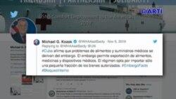 Estados Unidos asegura que crisis económica de Cuba es culpa del régimen castrista