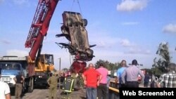 Accidente de tránsito, Placetas. Foto de Facebook de Carlos Antonio Brito Marrero