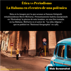 La foto de La Habana por la que acusan a Steve McCurry el famoso fotógrafo de National Geographic.