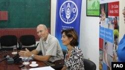 Theodor Friedrich y Laura Melo, funcionarios de Naciones Unidas, en La Habana.