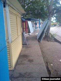 Áreas de venta de cuentapropistas en Contramaestre. Foto: Yoandri Veranes.