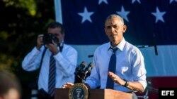 El presidente de EEUU, Barack Obama, en el Jardín Sur de la Casa Blanca en Washington.