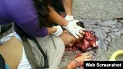 Estudiante asesinado en San Cristóbal, Venezuela.
