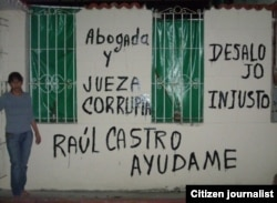 reporta cuba graffitis en Habana Yamile Bargés