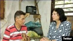 Guillermo del Sol junto a Mara Tekach, encargada de negocios de EEUU en La Habana.