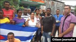 Reporta Cuba Activistas calles Guantánamo Foto Yoanny Beltrán
