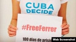 Campaña de Cuba Decide a favor de José Daniel Ferrer. (Facebook)