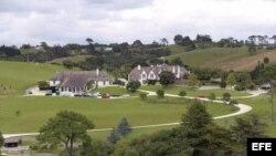 Residencia propiedad del fundador de MegaUpload, Kim Schmitz o Dotcom, en Coatesville, cerca de Auckland (Nueva Zelanda).