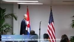 Declaraciones de Alex Lee en La Habana.