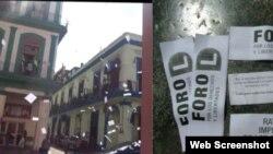 Reporta Cuba. Octavillas con reclamos de activistas.