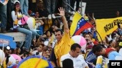 El candidato opositor Henrique Capriles Radonsky.