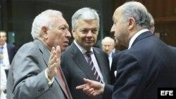 Los ministros de Exteriores de la Unión Europea.