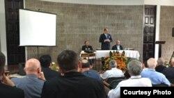 Intervención del presidente de Costa Rica ante obispos de la región.