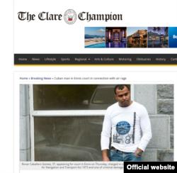 La noticia en el Clare Champion.