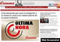 Así publica el periodico Granma la declaración del Ministerio de Relaciones Exteriores de Cuba.