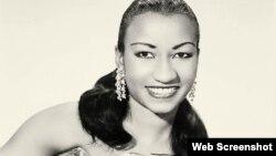 Celia Cruz, joven. (Archivo)