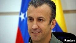 Tareck El Aissami, Ex vicepresidente de Venezuela, en una conferencia en Caracas, Venezuela.